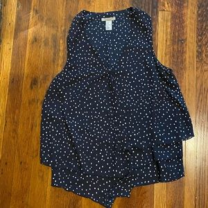H&am Navy blue speckled blouse